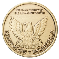Spanish Out Of The Ashes of Addiction Medallion