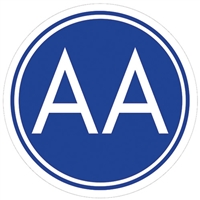 Blue and White AA Meeting Sign