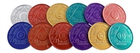 Style A Aluminum Alcoholics Anonymous Anniversary Coins