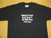 """Looking for Talent..."" T-shirt Youth Large Black"