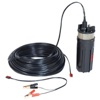 "ABYSS 12V PUMP WITH 230 FT WIRE USES 1/2"" ID TUBING FOR 4"" SCHEDULE 40 WELL OR LARGER"