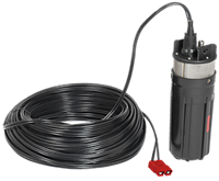 "ABYSS 300 SLIMLINE PUMP 12/24 VOLT 300 FT DTW FITS 4"" SCHEDULE 80 WELL OR LARGER - REQUIRES CONTROLLER"