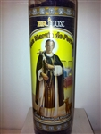 SAINT MARTIN OF PORRES SEVEN DAY UNSCENTED PURPLE CANDLE IN GLASS (SAN MARTIN DE PORRES)