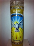 HOLY SPIRIT SEVEN DAY UNSCENTED YELLOW CANDLE IN GLASS (ESPIRITU SANTO)