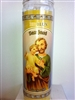 SAINT JOSEPH SEVEN DAY UNSCENTED YELLOW CANDLE IN GLASS (SAN JOSE)