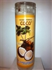 COCONUT PREPARED SCENTED SEVEN DAY CANDLE IN GLASS (COCO)