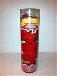 ROSE PREPARED SEVEN DAY CANDLE IN GLASS ( ROSAS )