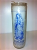 GUADALUPE SEVEN DAY CANDLE IN GLASS (  NUESTRA SENORA DE GUADALUPE CANDLE )
