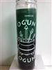 ORISHA OGUN TWO COLOR SEVEN DAY CANDLE IN GLASS