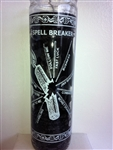 SPELL BREAKER SEVEN DAY UNSCENTED BLACK CANDLE IN GLASS (ROMPE CONJUROS VELA)