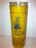 SAINT LAZARUS SEVEN DAY CANDLE IN GLASS ( SAN LAZARO CANDLE )
