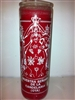 NUESTRA SENORA DE LA CANDELARIA ( OYA ) SEVEN DAY CANDLE IN GLASS UNSCENTED