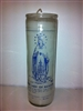 OUR LADY OF RANSOM ( MERCEDES ) SEVEN DAY CANDLE IN GLASS UNSCENTED