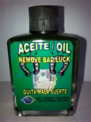 MAGICAL AND DRESSING OIL (ACEITE) 1/2 OZ FOR REMOVE BAD LUCK (QUITA MAL SUERTE)