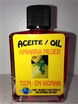 MAGICAL AND DRESSING OIL (ACEITE) 1/2OZ TIE THE WOMAN (AMARRA MUJER)