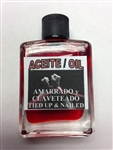 MAGICAL AND DRESSING OIL (ACEITE) 1/2OZ FOR TIED UP & NAILED (AMARRADO y CLAVETEADO)