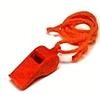 Whistle, Orange Plastic with landyard