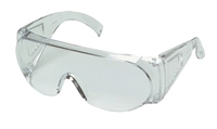 Safety Glass, Clear Lens, Visitor Spec, Fits OTG (over prescription glasses)
