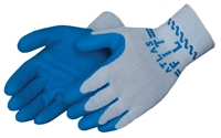 Atlas Gloves, Latex palm finger coated cotton poly glove