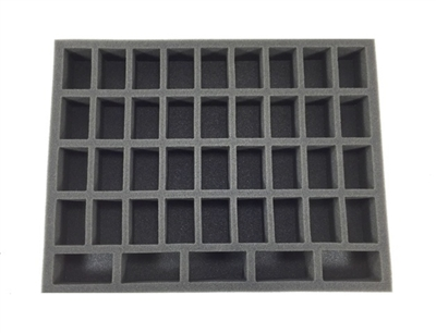 36 Medium 5 Tall Troop Foam Tray (BFL) 15.5W x 12L x 1.5H - BF-BFL-36M5T