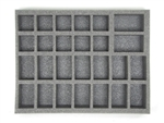 14 Large 10 Medium 2 X-Large Troop Foam Tray (BFL) 15.5W x 12L x 2.5H - BF-BFL-14L10M2XT25