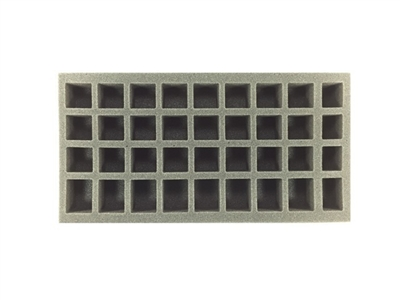 24 Small 8 Medium 4 X-Small Standing Model Foam Tray (BFM) 15.5W x 8L x 1H - BF-BFM-24S8M4XS1