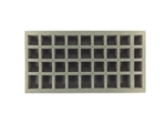 24 Small 8 Medium 4 X-Small Standing Model Foam Tray (BFM) 15.5W x 8L x 2H - BF-BFM-24S8M4XS2
