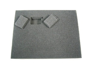 2.5 Inch Battle Foam Small Pluck Foam Tray (BFS) 11.5W x 7.625L x 2.5H - BF-BFS-PF25
