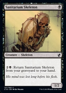 Sanitarium Skeleton - Commander 2019 - Common