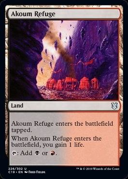Akoum Refuge - Commander 2019 - Uncommon