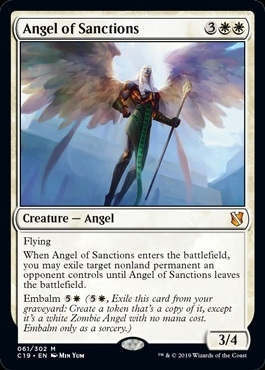 Angel of Sanctions - Commander 2019 - Mythic Rare