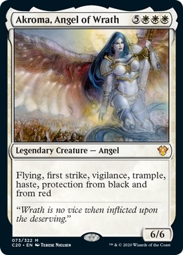 Akroma, Angel of Wrath - Ikoria Commander 2020 - Mythic Rare