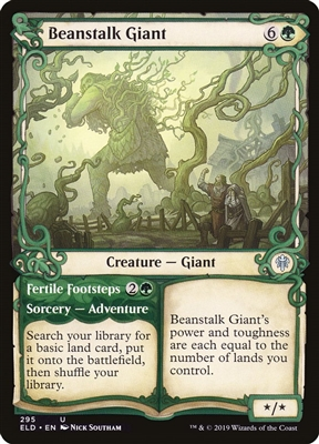 Beanstalk Giant // Fertile Footsteps - Showcase - Throne of Eldraine Collector Boosters - Uncommon