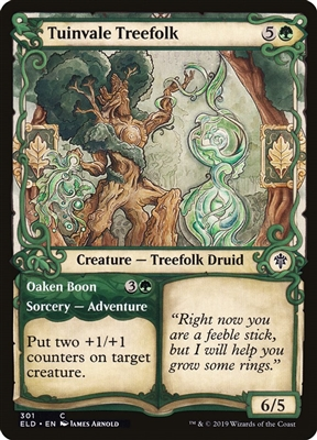 Tuinvale Treefolk // Oaken Boon - Showcase - Throne of Eldraine Collector Boosters - Common
