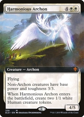 Harmonious Archon - Extended Art - Throne of Eldraine Collector Boosters - Mythic Rare