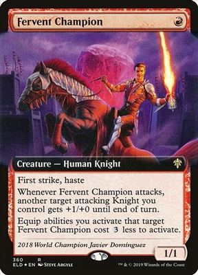 Fervent Champion - Extended Art - Throne of Eldraine Collector Boosters - Rare