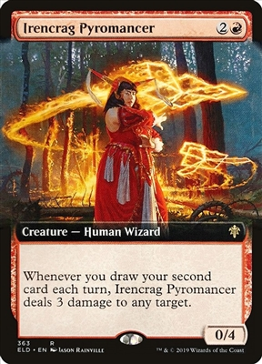 Irencrag Pyromancer - Extended Art - Throne of Eldraine Collector Boosters - Rare