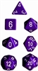 Chessex Polyhedral 7 Die Set - Opaque Purple with White Numbers