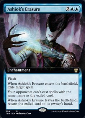 Ashiok's Erasure - Extended Art - Theros Beyond Death Collector Boosters - Rare