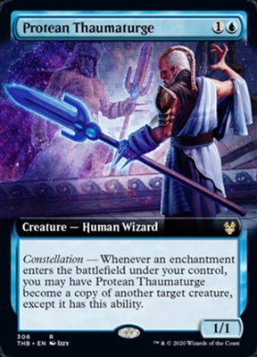 Protean Thaumaturge - Extended Art - Theros Beyond Death Collector Boosters - Rare