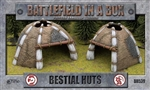 Battlefield in a Box - Bestial Huts