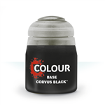BASE - CORVUS BLACK - 12ml - Games Workshop