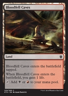 Bloodfell Caves - Khans of Tarkir - Common
