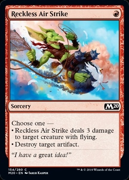 Reckless Air Strike - Core Set 2020 - Common