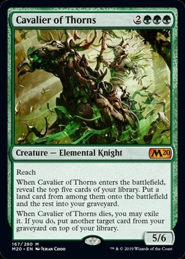 Cavalier of Thorns - Core Set 2020 - Mythic Rare
