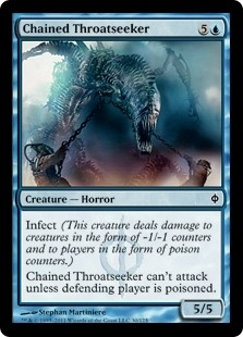 Chained Throatseeker - New Phyrexia - Common