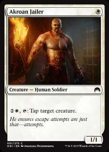 Akroan Jailer - Magic Origins - Common