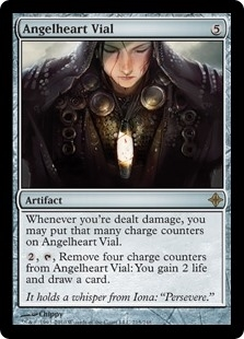 Angelheart Vial - Rise of the Eldrazi - Rare