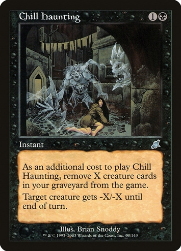 Chill Haunting - Scourge - Uncommon
