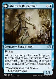 Aberrant Researcher // Perfected Form - Shadows over Innistrad - Uncommon